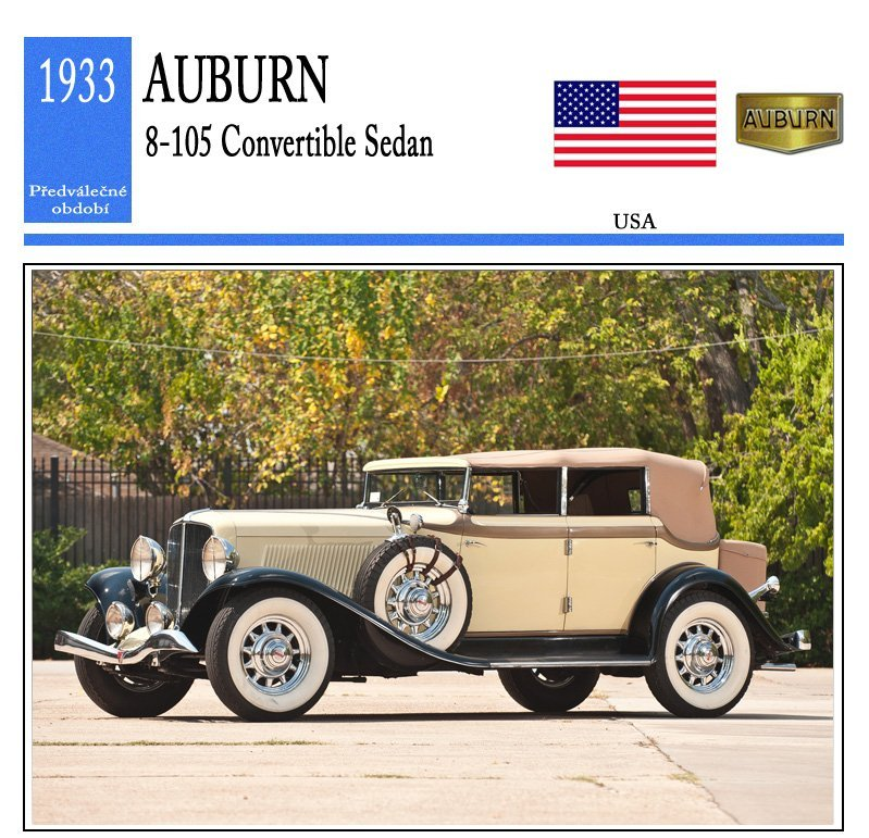 Auburn 8-105 Convertible Sedan