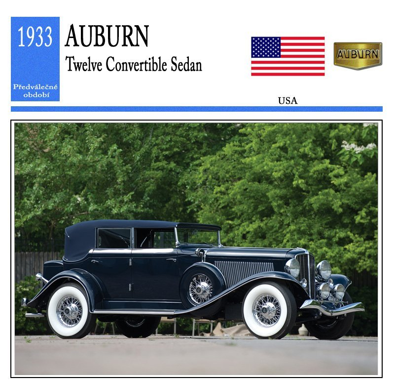 Auburn Twelve Convertible Sedan