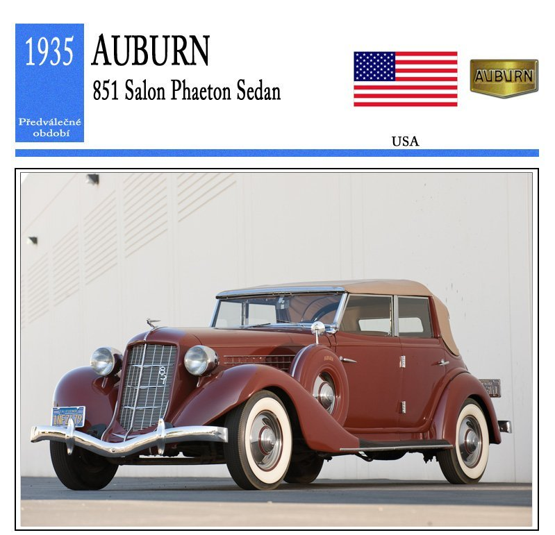 Auburn 851 Salon Phaeton Sedan