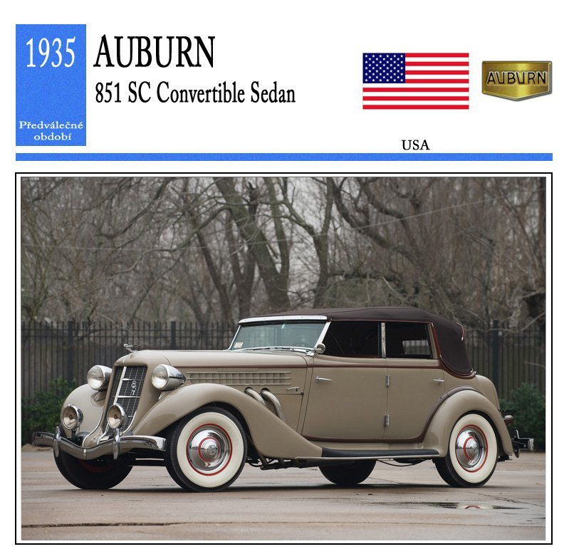 Auburn 851 SC Convertible Sedan